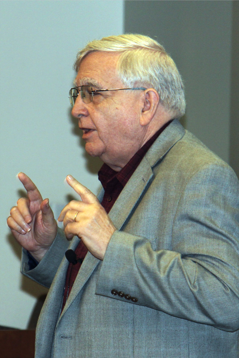 The Rev. Charles M. Wood, emeritus professor at Perkins School of Theology, talks about how United Methodists understand church. Photo by Ebony Lincoln, Higher Education and Ministry.
