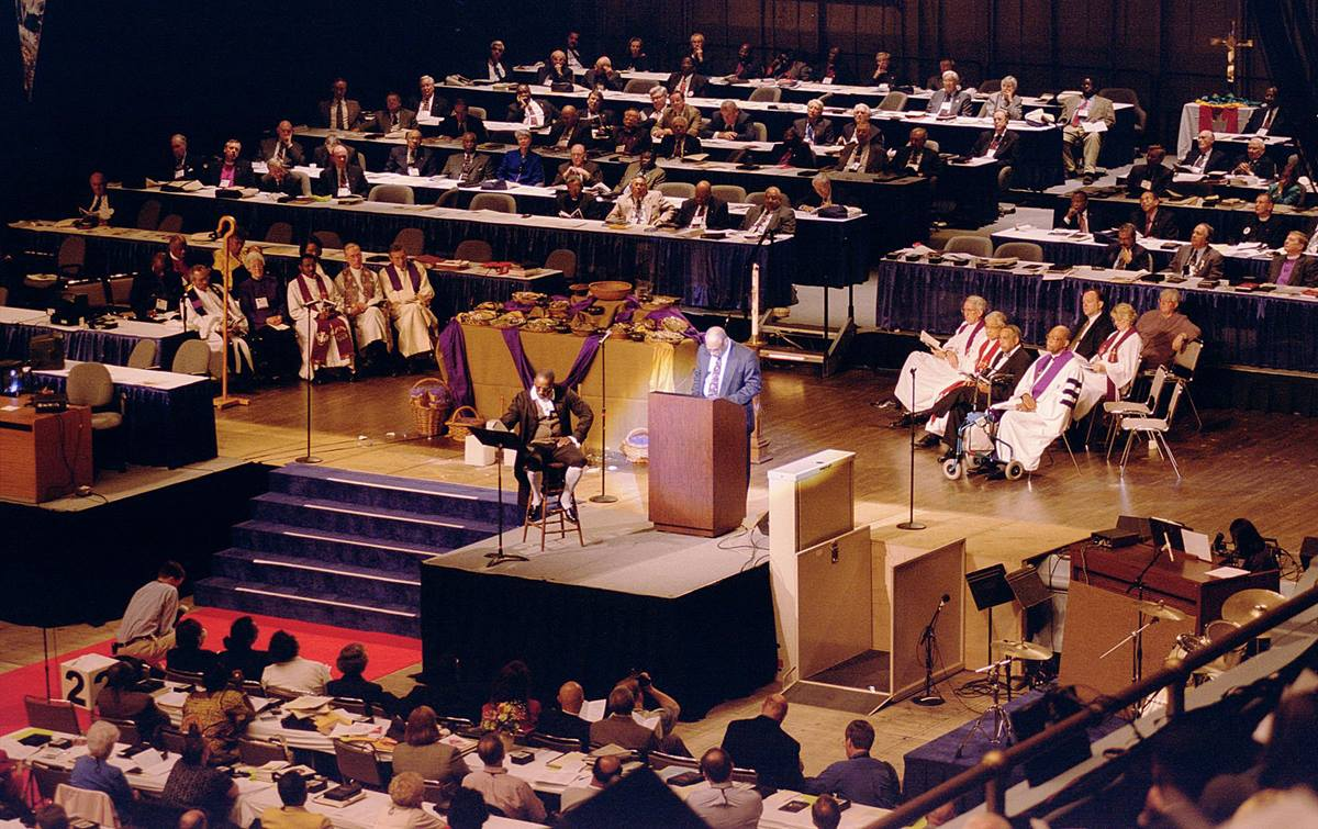United Methodists confessed to the sin of racism within the denomination during their 2000 General Conference in Cleveland. UMNS file photo by John C. Goodwin