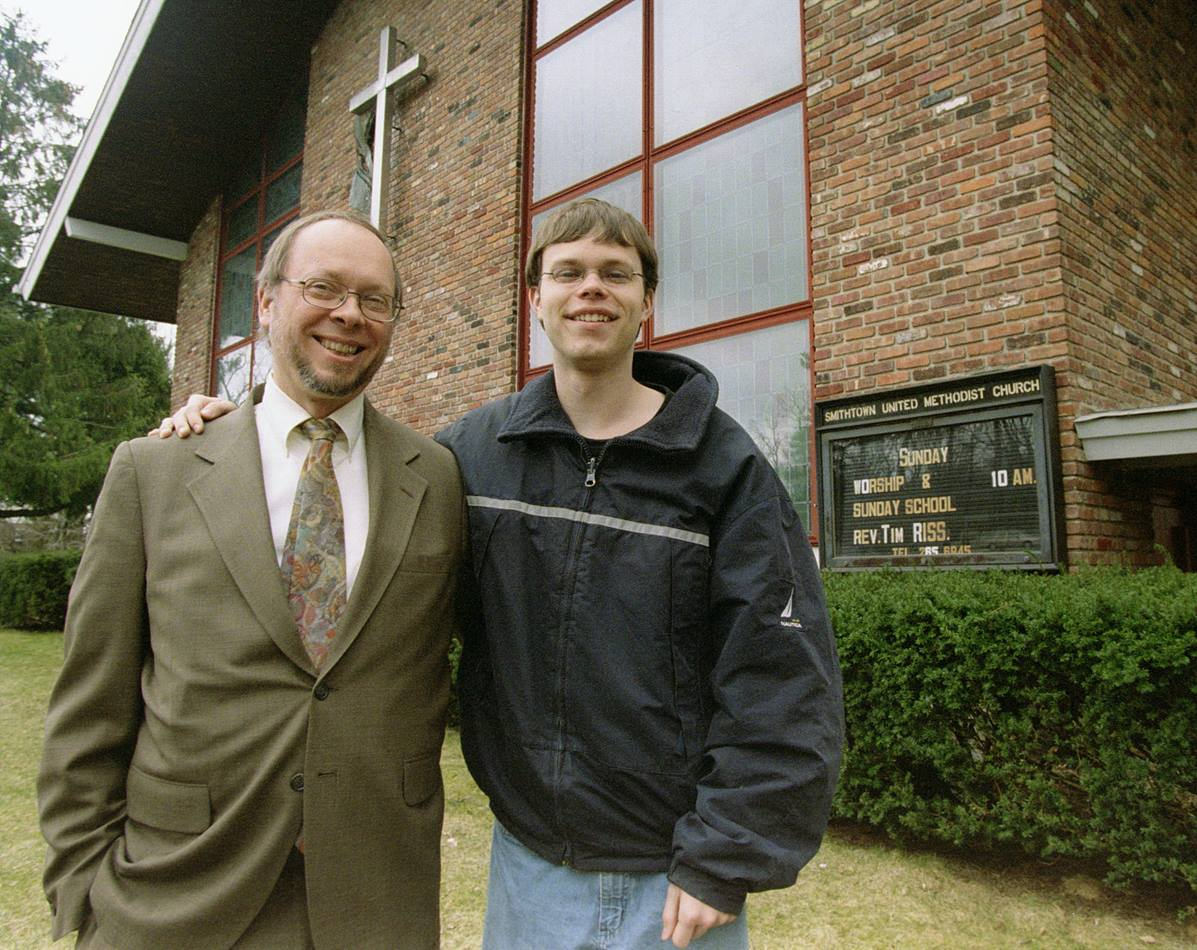 The Rev. Timothy Riss and his 18-year-old son, Jonathan, are looking forward to attending General Conference together as delegates. UMNS photo by John C. Goodwin
