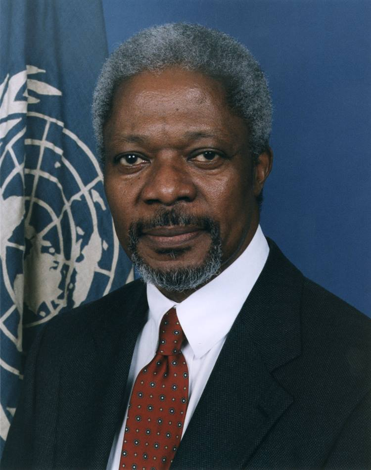 Kofi A. Annan, secretary-general of the United Nations, will receive the 1998 World Methodist Peace Award. He was chosen for the award because of his courage, creativity and consistency in the pursuit of human reconciliation and world peace, according to Frances Alguire, president of the World Methodist Council. EDITORS NOTE, Mandatory Credit: UN/DPI photo by Milton Grant Copyright United Nations.  Distributed by UMNS.