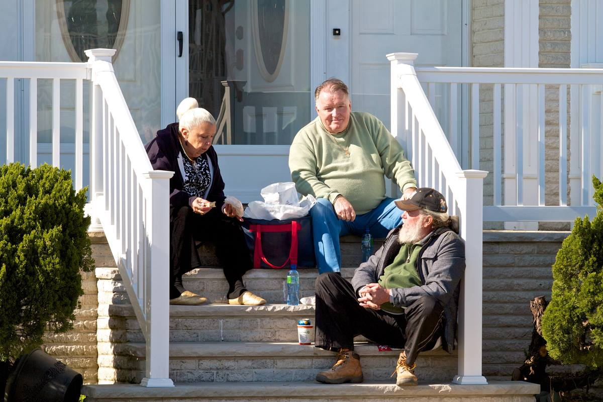 The Brennans have lived in Belmar for 31 years, but have never seen anything like Hurricane Sandy. Photo by the Rev. Chris Heckert