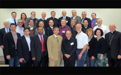 Participants in the Ecumenical Leadership Summit Oct. 22-25 in Dallas represent United Methodist, Anglican, Lutheran, Presbyterian and reformed traditions. A web-only photo courtesy of the American Anglican Council.