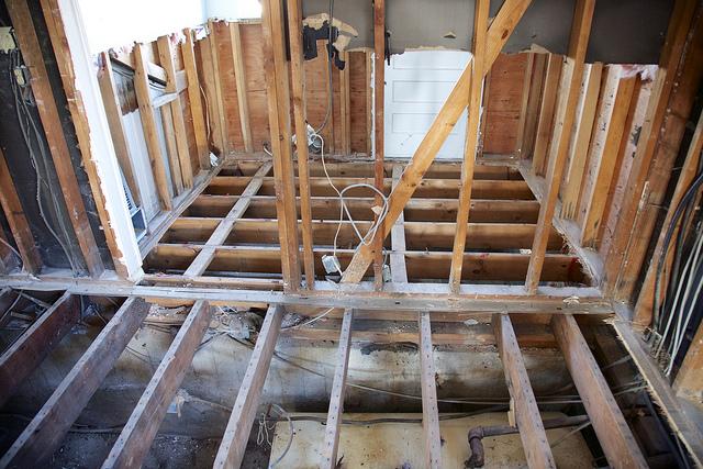 Repair work to Henry Enders' home is extensive.