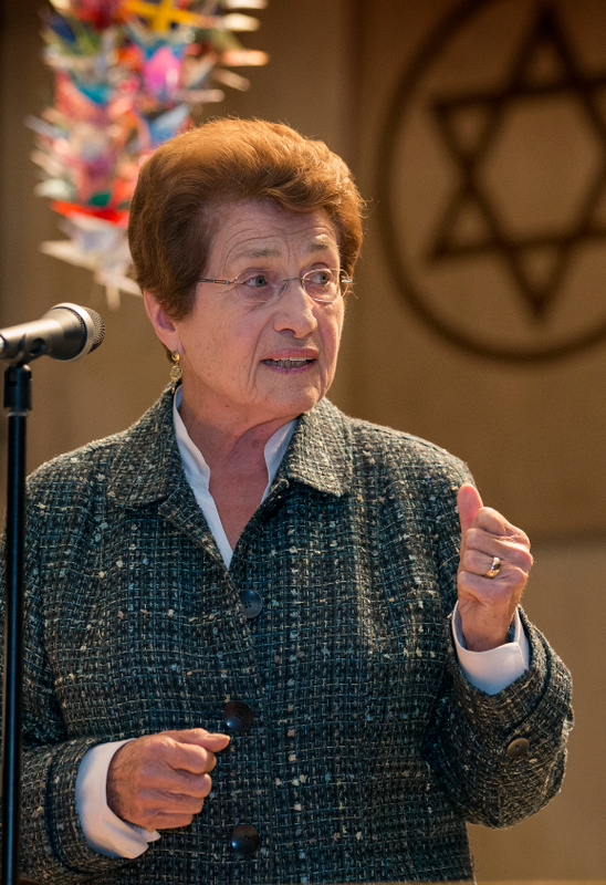"""Cora Weiss presented a """"peek at your next 50 years"""" for the gathering."""
