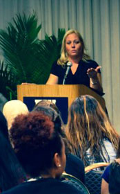 Katariina Rosenblatt, a survivor of the human trafficking industry, works to get other victims out of sex trafficking through a program she formed called There is H.O.P.E. A web-only photo courtesy of Florida International University/Wesley Foundation.