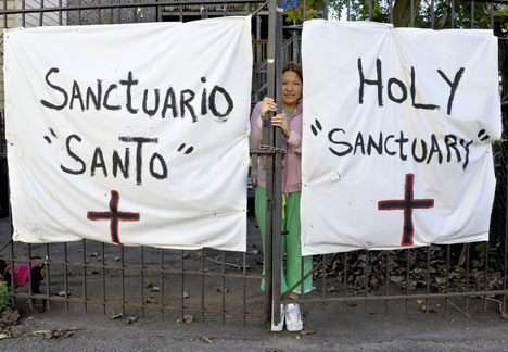 Elvira Arellano received sanctuary at Adalberto United Methodist Church in Chicago from Aug. 15, 2006, to Aug. 16, 2007. A UMNS file photo by Paul Jeffrey.