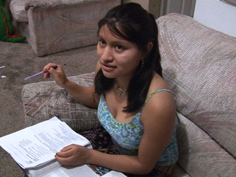 Mariela, 18, is the primary caregiver for her three young sisters since their mother was arrested during an April 16 immigration raid at a Chattanooga, Tenn., poultry plant. UMNS video images.