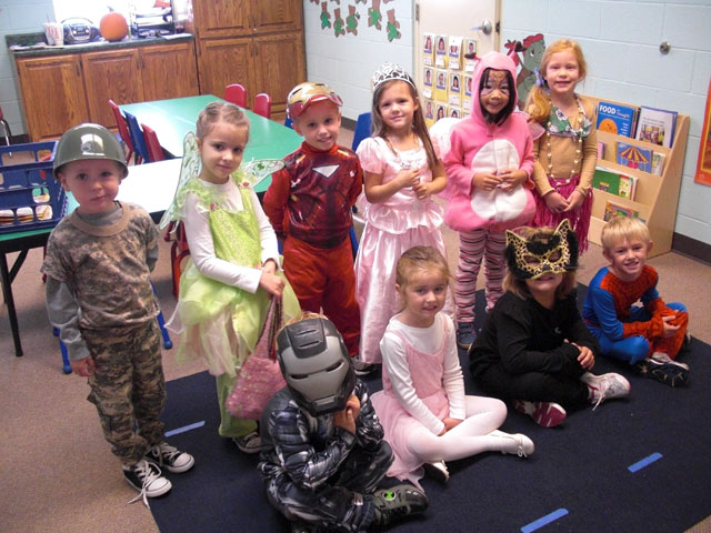 United Methodists choose from a variety of Halloween traditions, including costume day at preschool. Photo by Alison Worden.
