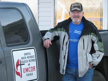 Bob Lower coordinates United Methodist disaster relief efforts in Minot, N.D.