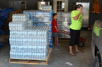 Supplies from the UMCOR Sager Brown Depot in Baldwin, La., have been distributed to storm-affected residents through the Maurepas Volunteer Fire Department.