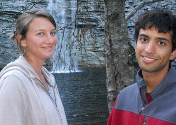 Amy Rebecca Mellor and André Luiz de Oliveira Domingues. A UMNS web-only photo by Jorge Luiz Domingues.