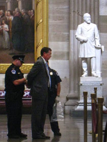 Jim Winkler of the United Methodist Board of Church and Society was among faith leaders arrested for refusing to stop public prayers in the U.S. Capitol in July. A UMNS file photo by Jewel DeGuzman.