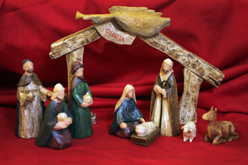 An exclusive, nine-piece Nativity set is one of many Christmas items offered by Cokesbury Bookstore. The crèche was created by Abbey Press and customized for Cokesbury.