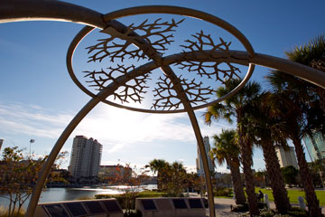 A ceremonial space honoring indigenous people by artist Bob Haozous graces the Riverwalk in Tampa, Fla. The United Methodist Church is planning an