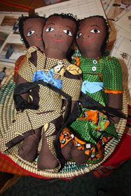 Handmade African dolls were among many items showcased by Christ United Methodist Church, Franklin, Tenn., during its alternative market called