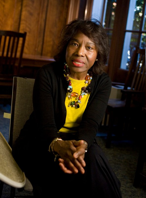 Susie Johnson, UMW, is interviewed in the CBS special on human trafficking. Photo by Richard Lord.