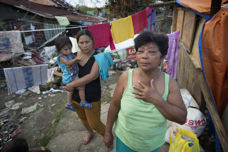 Edita Tante describes her experiences as a survivor of Typhoon Haiyan in Tacloban, Philippines. A UMNS photo by Mike DuBose.