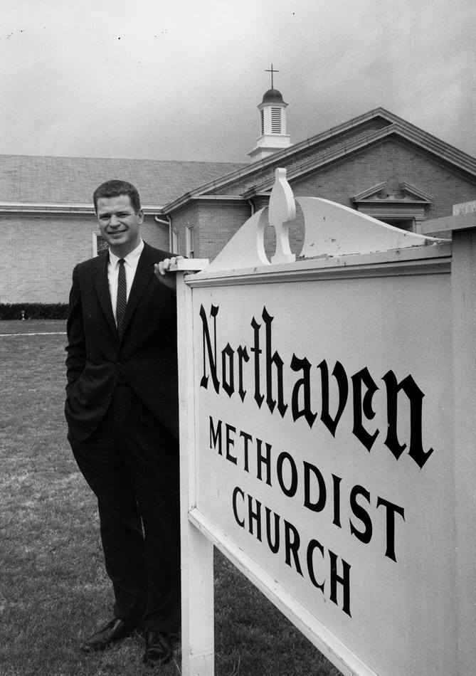 """The Rev. William Holmes served as pastor of Dallas' Northaven Methodist from 1957 to 1965, and it was there he preached the sermon """"One Thing Worse Than This."""" Photo courtesy Northaven United Methodist Church."""