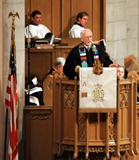 The Rev. James Gulley said Dixon had 'a gentle, kind spirit.' A UMNS photo courtesy of Bill Norton.