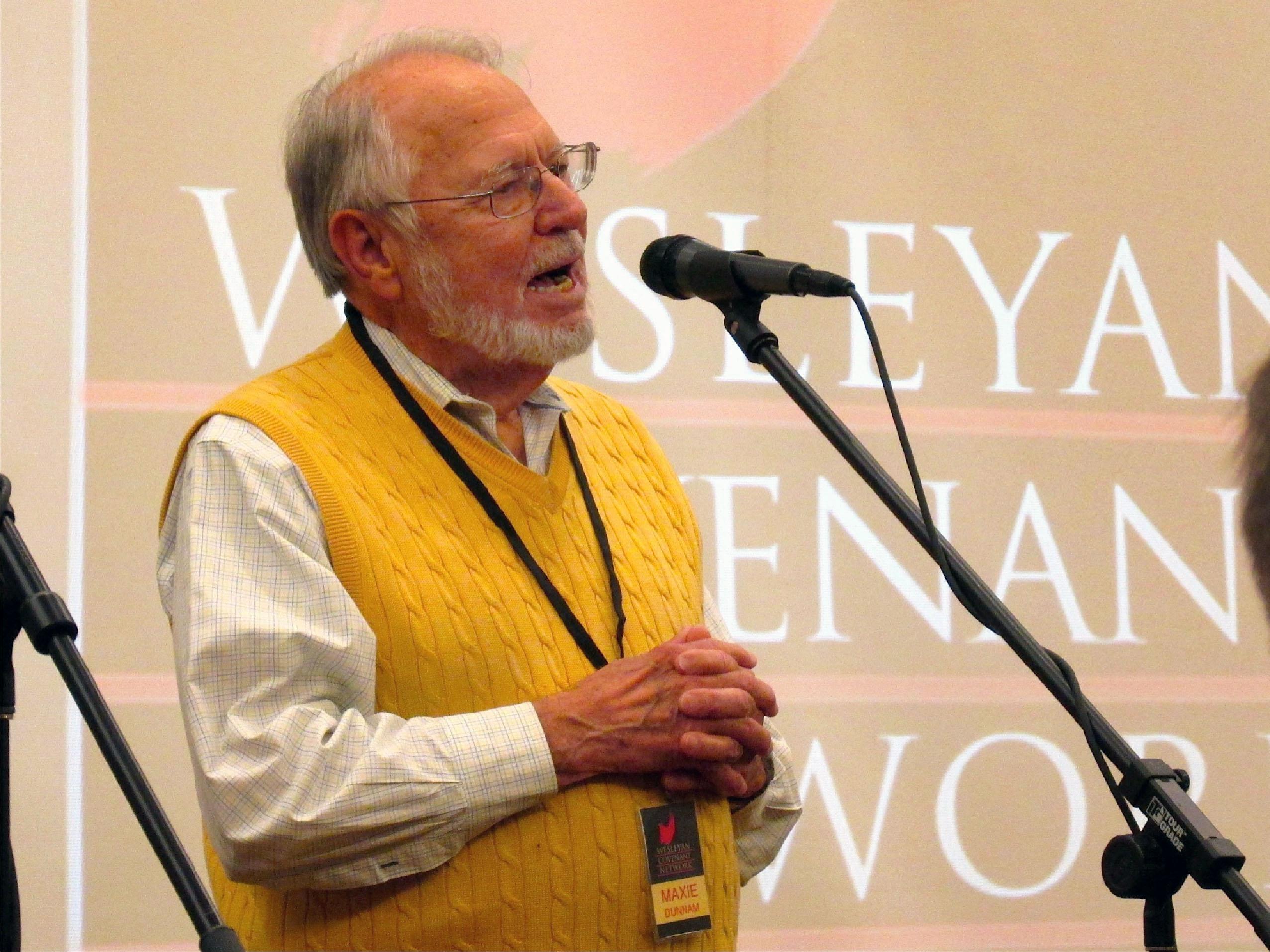 The Rev. Maxie Dunnam speaks at Wesleyan Covenant Network meeting Jan. 13-14 in Atlanta.