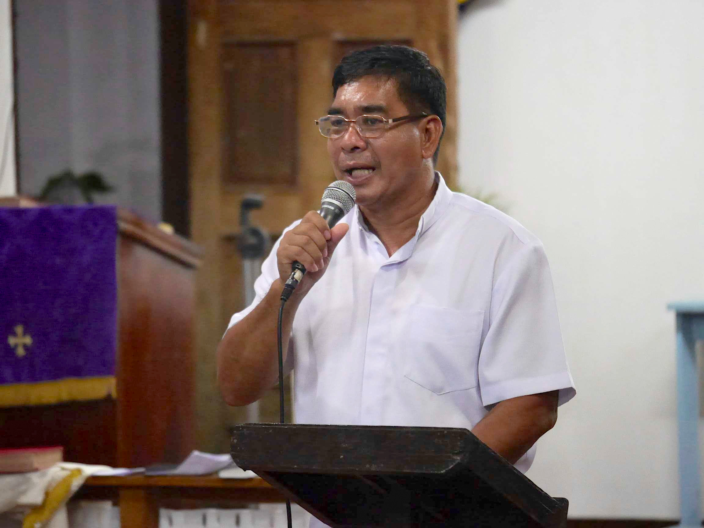 The Rev. David Cosmiano is a United Methodist district superintendent for Eastern Visayas in the Philippines, a region heavily impacted by Typhoon Haiyan last November.