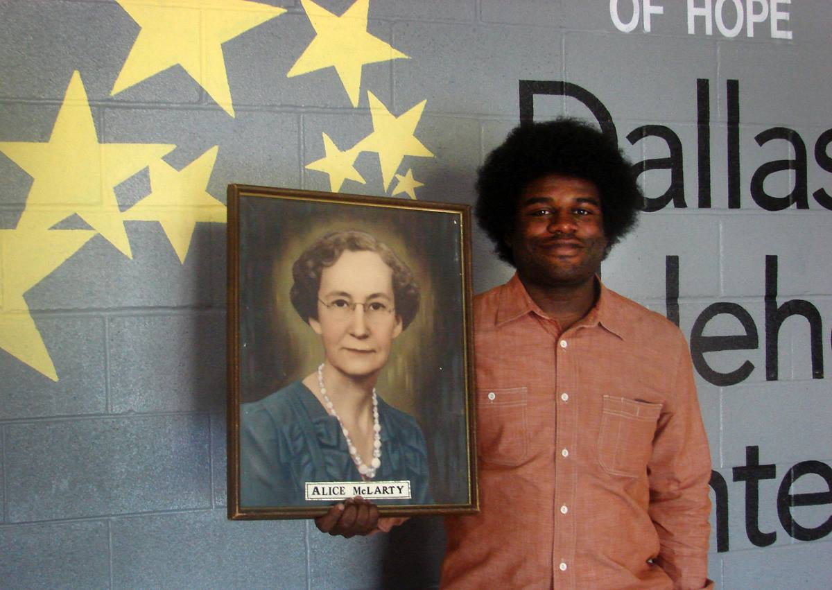 As a staff member at Dallas Bethlehem Center, George Battle III has come to admire its founder, Methodist deaconess Alice McLarty. Photo by Sam Hodges, UMNS