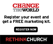 Change the World - Register your event and get a free marketing kit.