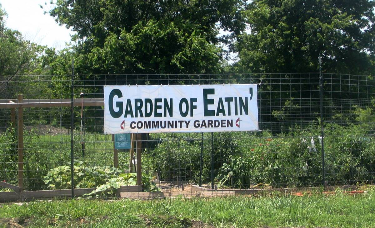 Bartlesville (Okla.) First Church members planted their first community garden on Change the World Day in 2009. Today, the garden, which began with 30 volunteers, is still growing strong.