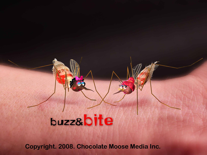 A logo from the Buzz and Bite malaria awareness campaign. Photo courtesy of Firdaus Kharas/Chocolate Moose Media.