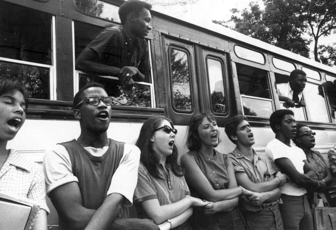 A photo from Mississippi's 1964 Freedom Summer.  Photo by Ted Polumbaum, courtesy of the Newseum.