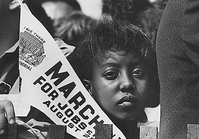 "Edith Lee-Payne celebrated her 12th birthday listening to the Rev. Martin Luther King Jr. give his ""I Have a Dream"" speech in Washington, where she was photographed by Rowland Scherman, on assignment for the U.S. Information Agency."