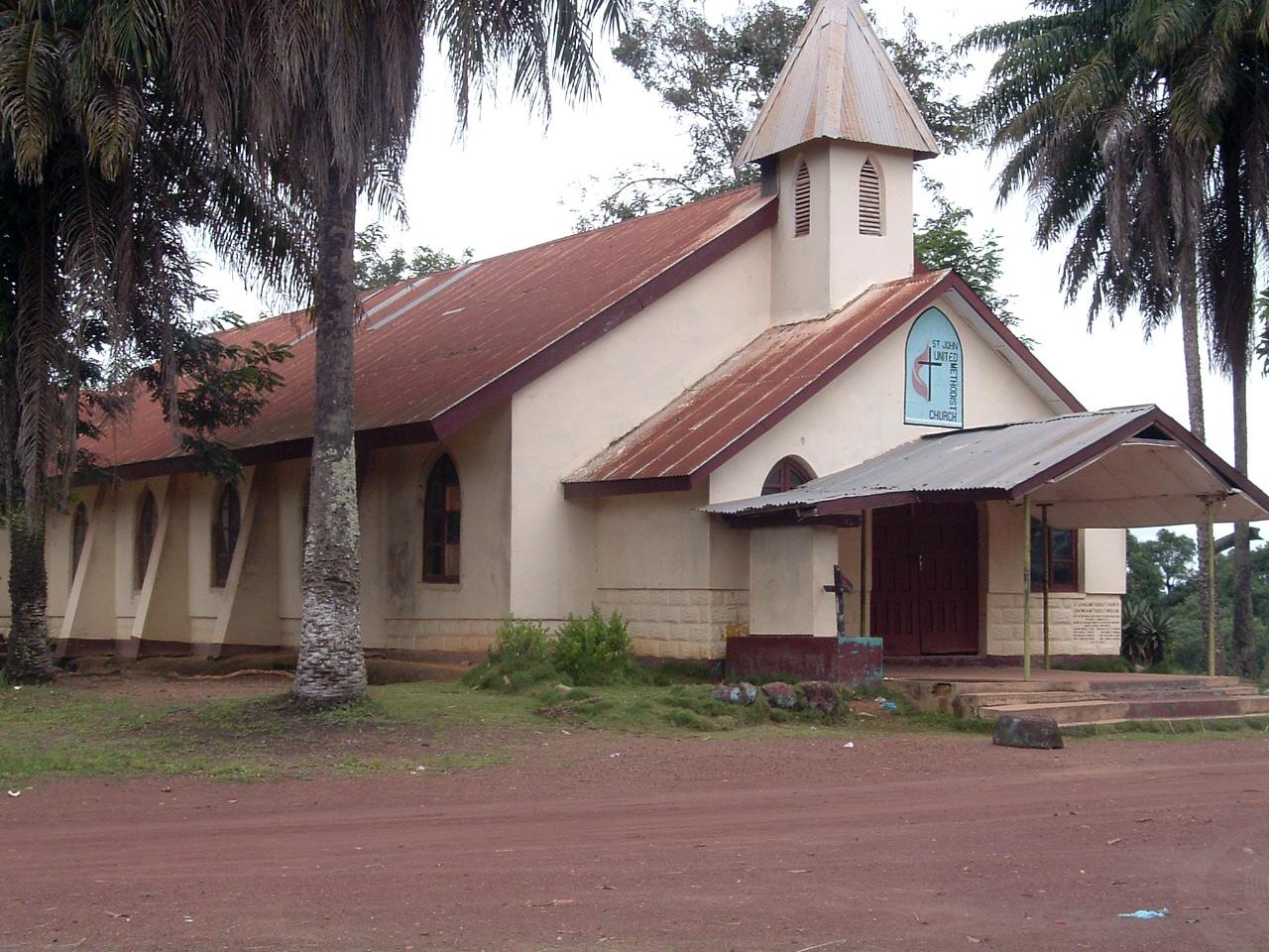 The chapel at Gbarnga School of Theology in Monrovia, Libera.