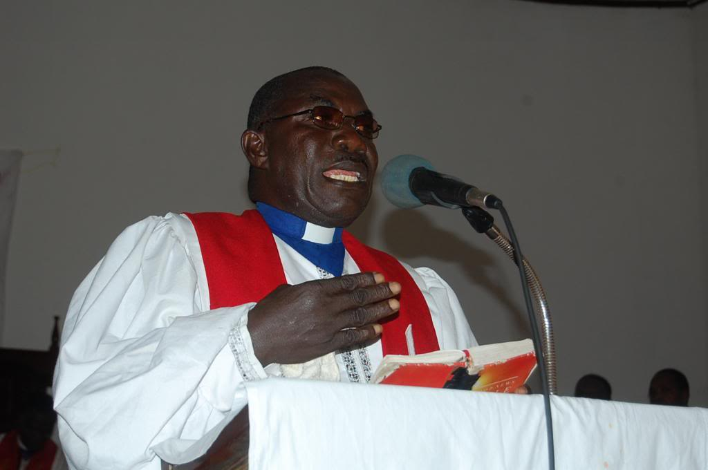 The Rev. Morris Jarkloh addresses  the Liberia Annual Conference in Sinoe District which he hosted as superintendent.