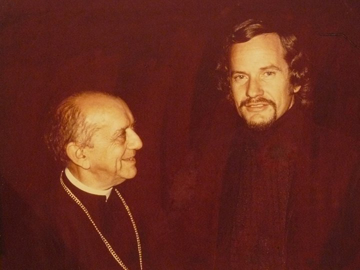 The Rev. Fred B. Morris (right) and Archbishop Dom Helder Camara pose in a 1974 file photo taken two weeks after Morris was released from a torture chamber due to his association with Camara.