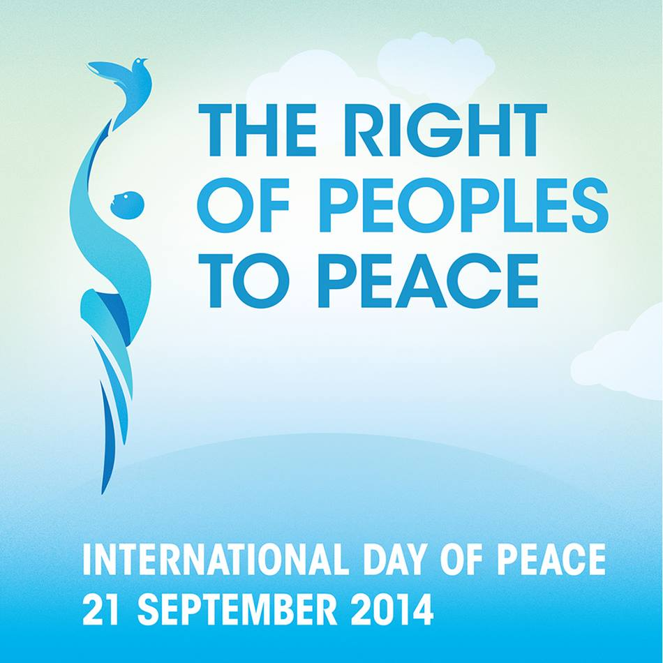 The 2014 International Day of Peace logo. Courtesy of the UN Department of Public Information