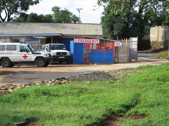The new Ebola treatment center in Lakka Village near Freetown had nine patients as of Sept. 19. Photo by Phileas Jusu