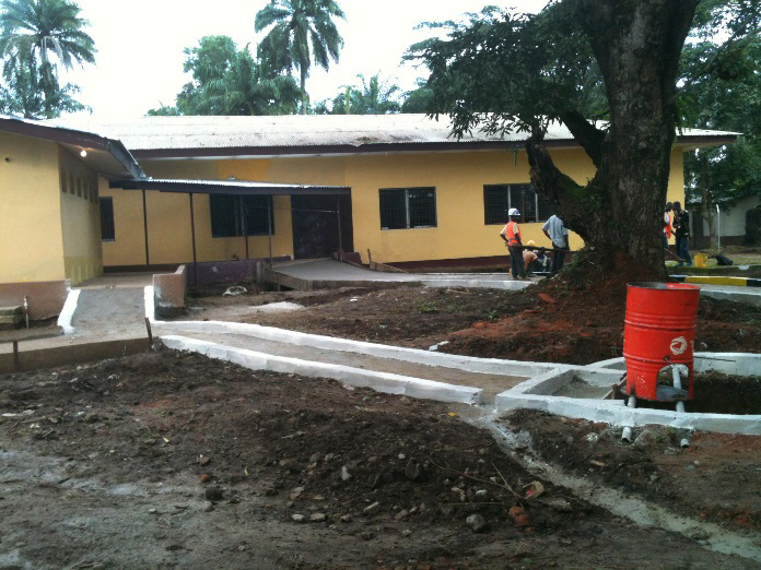 The new Ebola Center in Ganta City, Liberia.