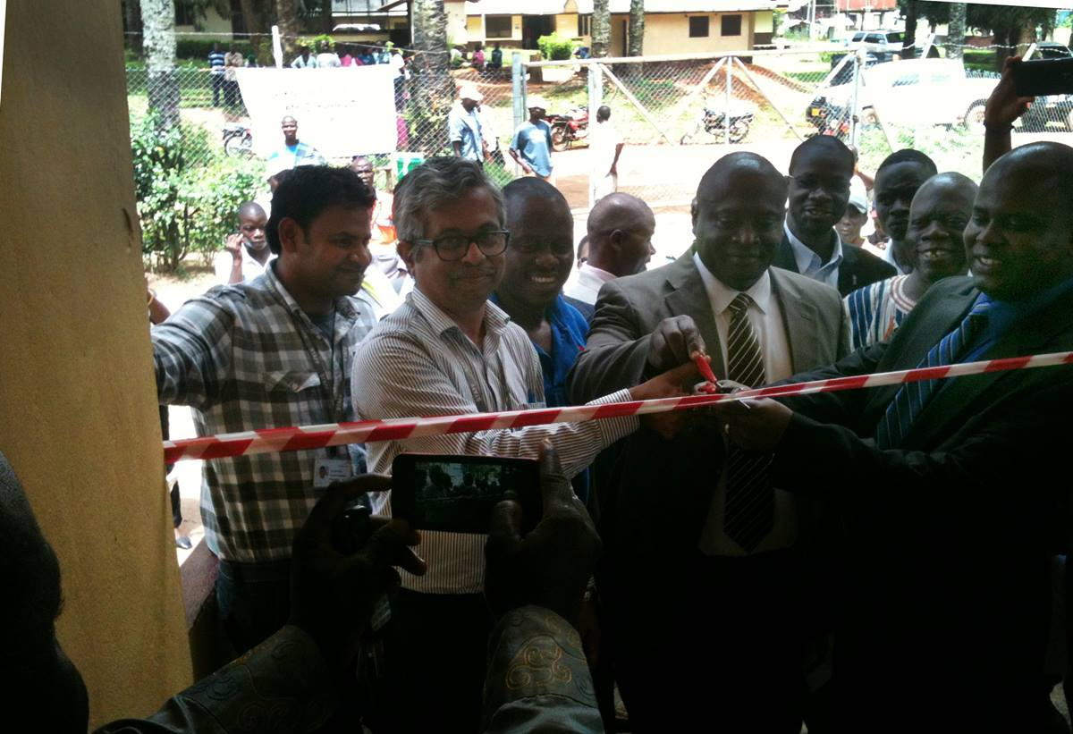 Prayaga Sreenivas Prasad, general manager and chief technical officer of AcelorMittal, said his company was glad to support the Liberian government in its fight against the Ebola virus.