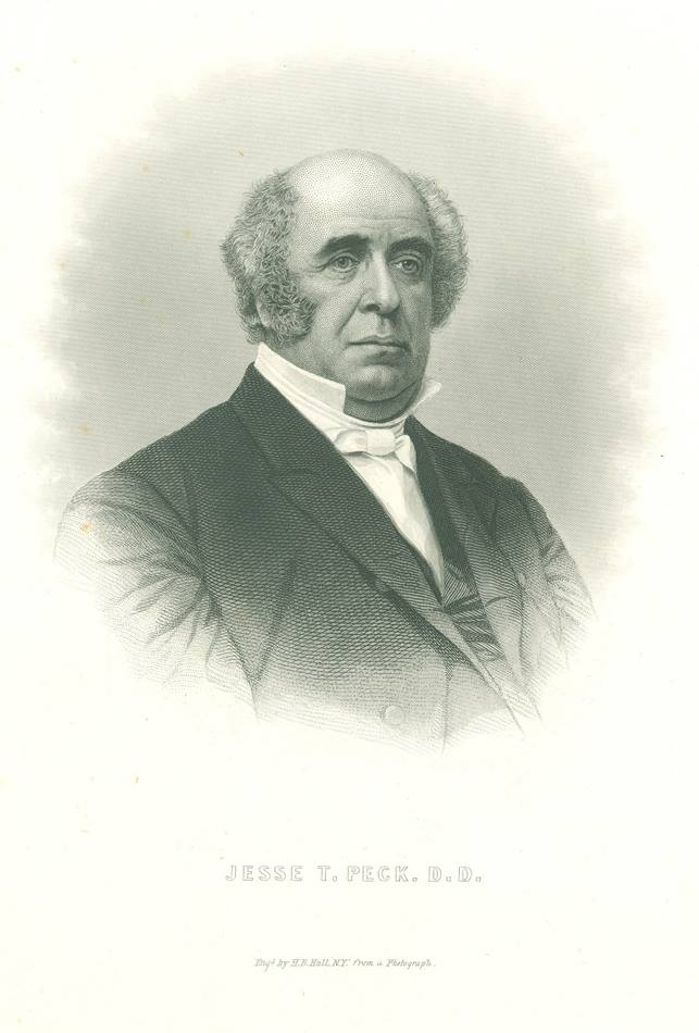 Bishop Jesse Truesdell Peck, of the Methodist Episcopal Church, was a great-uncle of author Stephen Crane. Photo courtesy of the United Methodist Commission on Archives and History