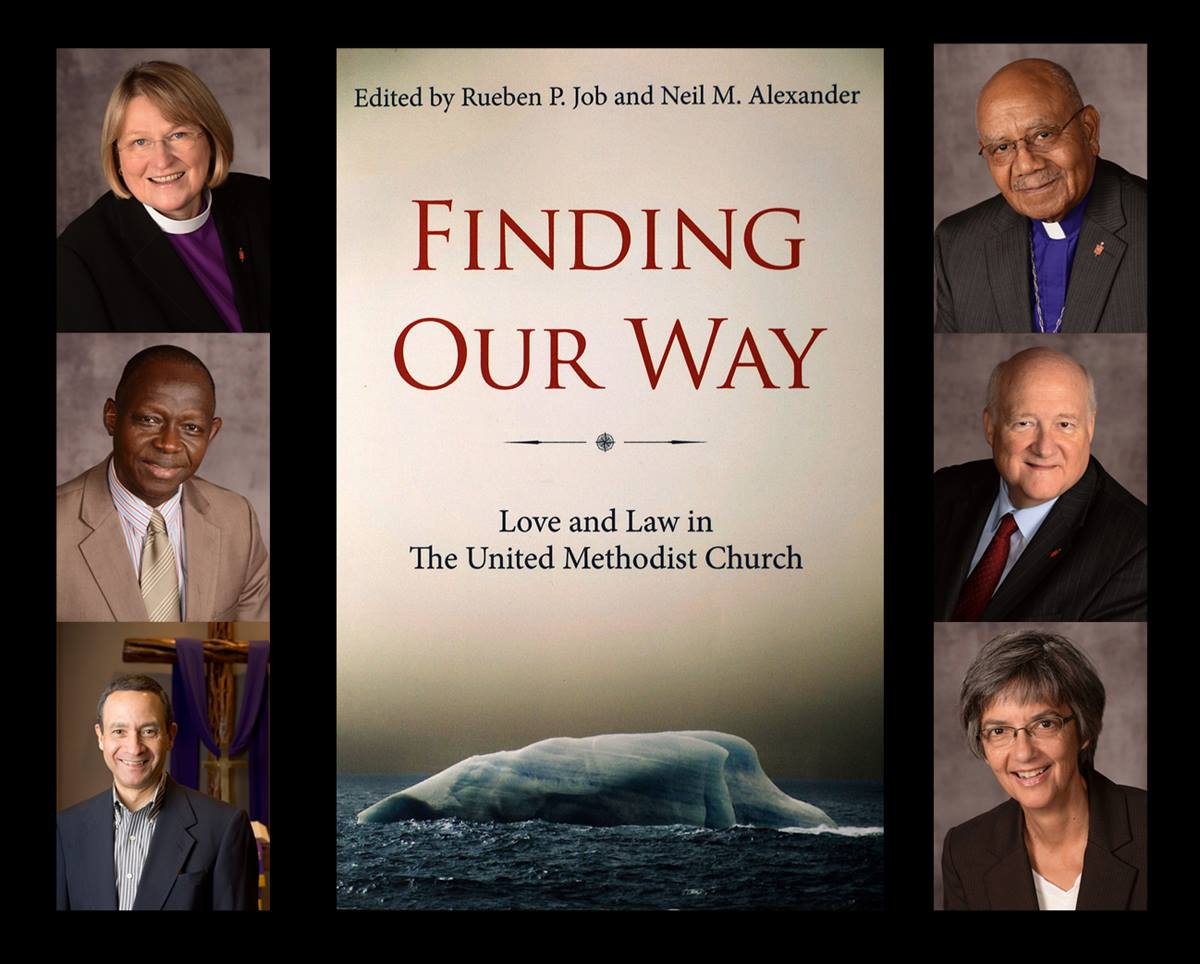 """United Methodist leaders, including seven bishops, will join in a panel discussion on human sexuality on Saturday, Nov. 1. They are all contributors to the book """"Finding Our Way."""" Pictured clockwise from left are Bishop Rosemarie Wenner, Bishop Melvin G. Talbert, Bishop J. Michael Lowry,  Bishop Hope Morgan Ward, Neil M. Alexander and Bishop John K. Yambasu. Photos courtesy of the Council of Bishops"""