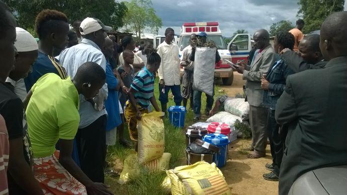 에볼라 발생 지역에 식량과 약품을 전달하고 있는 라이베리아의 간타 소재 밀러 맥오리스터 연합감리교회