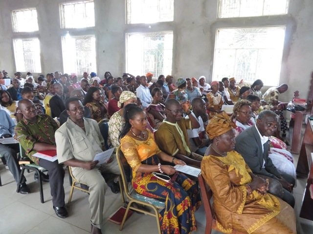 The pews are full at Charles Davis United Methodist Church in Western Freetown, Sierra Leone as people turn to religion for hope during the Ebola outbreak.