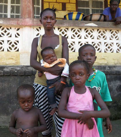The Ebola virus has taken the life of the husband of Hassanatu Jalloh, leaving her with four children to support.