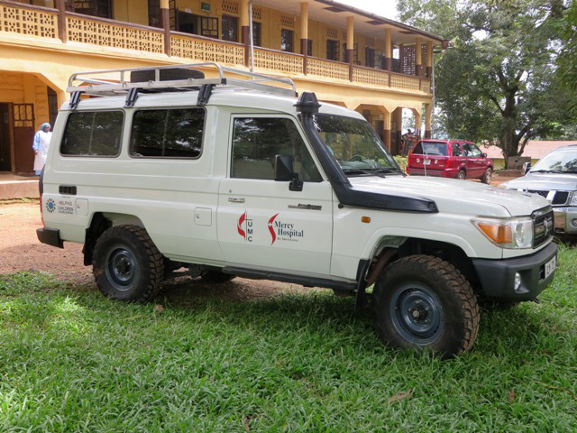 With funding from Helping Children Worldwide, Mercy Hospital received an Ebola-specific ambulance which was used to rush two staff members with Ebola to a treatment center in Freetown.
