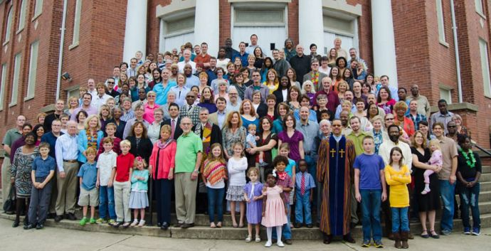 Green Street Church's pastor is facing a complaint for not officiating at a same-sex wedding. The Rev. Kelly Carpenter is sympathetic to the couple filing the complaint. He sees the church's inclusion as key to its growth. Photo courtesy of Green Street Church