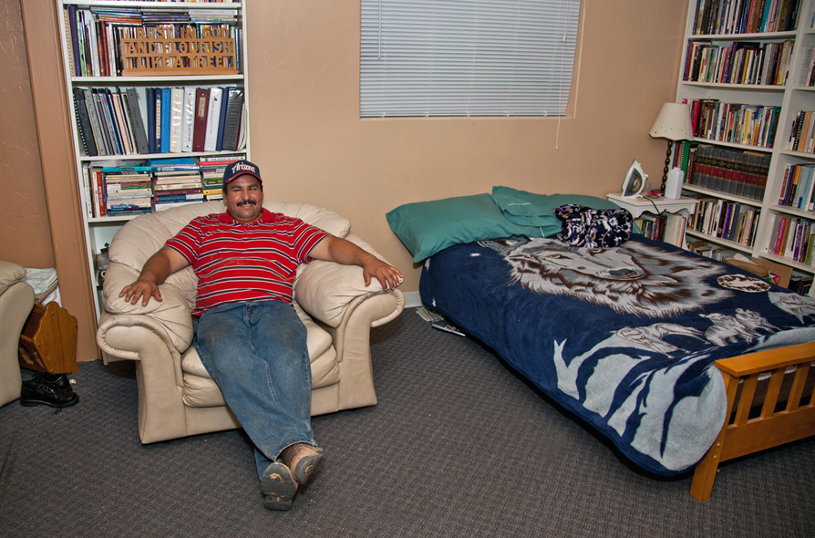 An office at St. Francis in the Foothills United Methodist Church has been converted into a bedroom for Francisco Perez Cordova since he took sanctuary at the church to avoid possible deportation. Photo courtesy St. Francis in the Foothills United Methodist Church