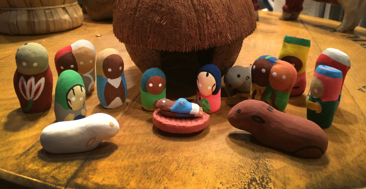 JoAnn Hall, a member at Trinity United Methodist Church in Smithfield, Va., purchased her favorite Nativity set during her first  mission trip to Haiti. She has since purchased others on subsequent trips for friends and family Photo by JoAnn Hall.