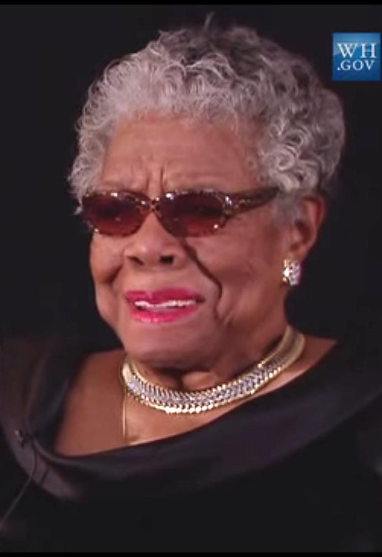 Maya Angelou, photo courtesy of the White House