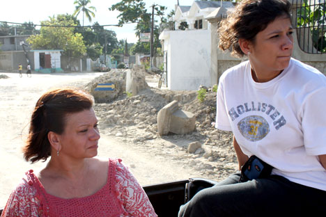 Clara Jean Arnwine, left, and Alex Paz were part of the medical mission team from Highland Park United Methodist Church that was in Haiti when the quake struck.