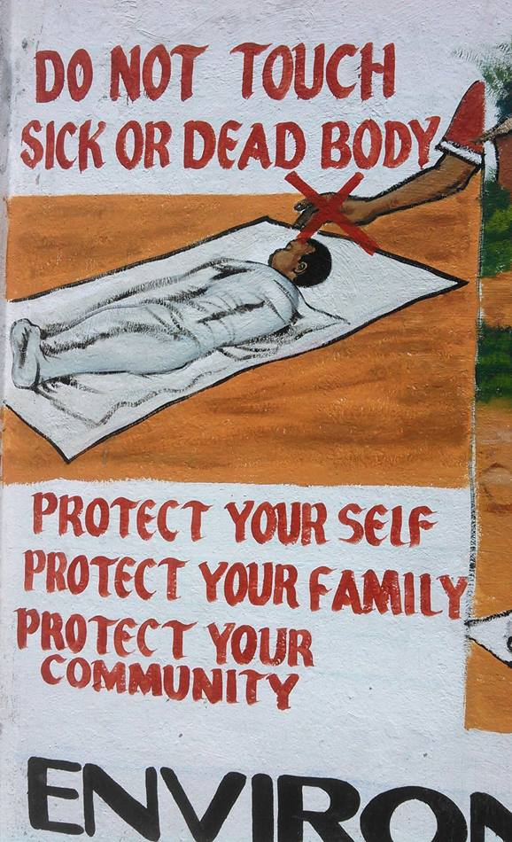 Liberia has incorporated the visual arts in mural form in order to communicate information about Ebola.